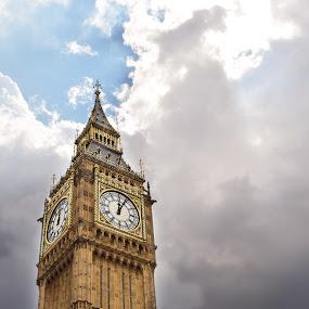 Big Ben and a dramatic sky by Karen Buttery - Buildings & Architecture Public & Historical ( landmark, uk, time, london, clock, big ben )