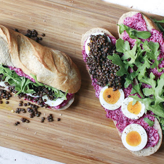 Lentil Sandwich with Pickled Beet Butter.