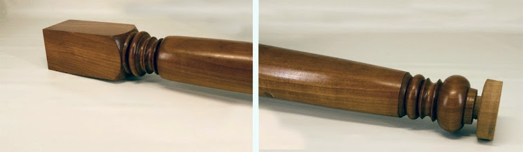 "Photo: Jack Enders 3"" x 28"" French country table leg [cherry]"