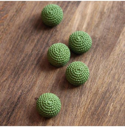 Perforerad & klotformad, 17mm - grön