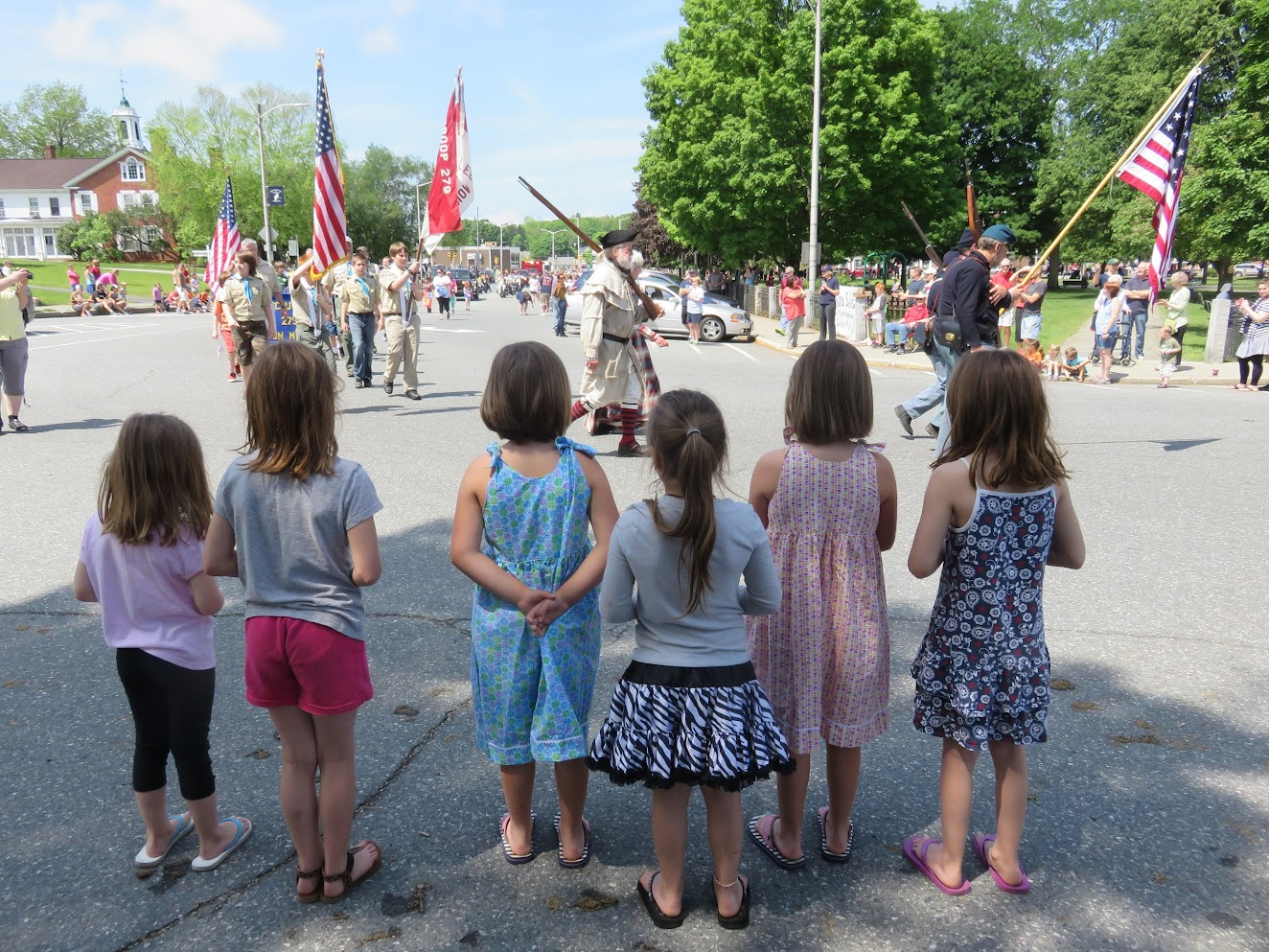 Watching the Memorial Day parade around Colburn Park! -Submitted by Melissa Avery.