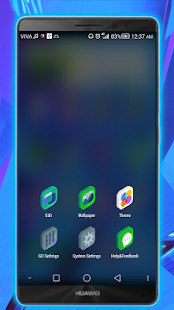 clear go launcher theme Screenshot