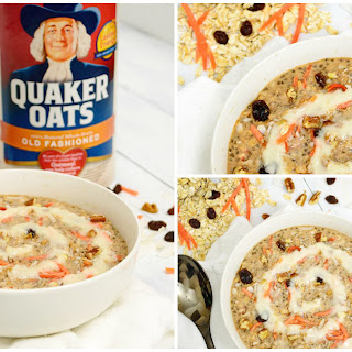 The Best Bowl Ever of Carrot Cake Oatmeal