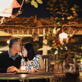 Romantic Candle by Adrianto Mahendra II - People Couples