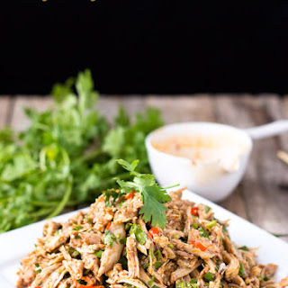 Sichuan Style Spicy Chicken Salad.