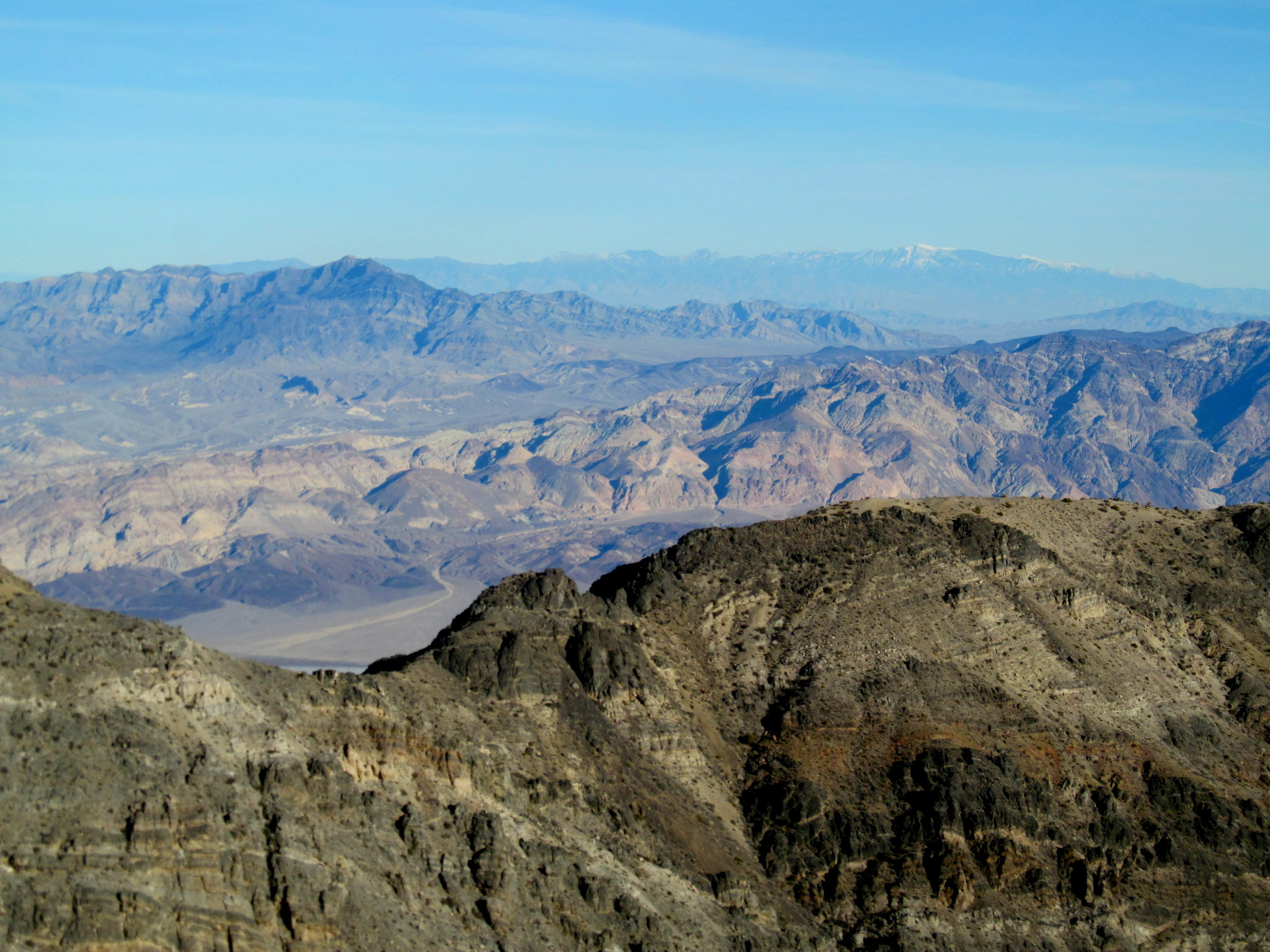 Photo: View east across Death Valley to the distant Spring Mountains