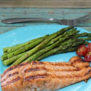 Indoor Grilled Cajun Salmon.