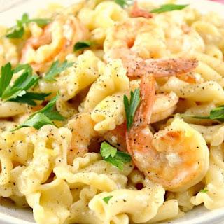 One Skillet Shrimp and Pasta Scampi.