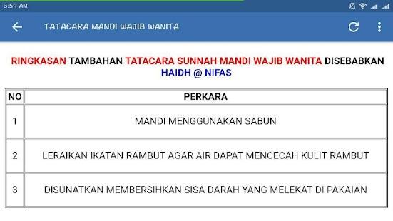 Panduan Mandi Wajib - náhled