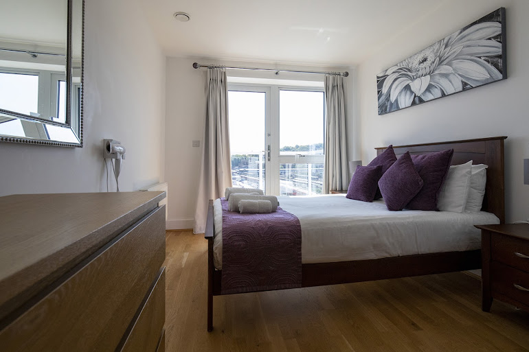 Luxury bedroom at Station View