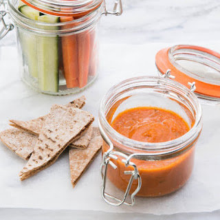 Roasted Pepper & White Bean Dip