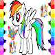 coloring horse pony
