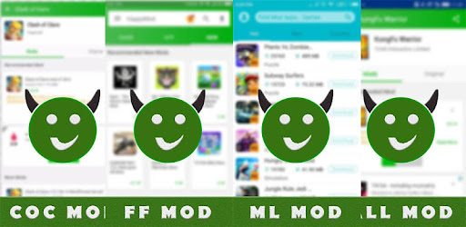 Happymod APK ~ ML COC Legends FF Free Mod App 2019 captures d'écran