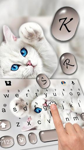 Innocent Cute Cat Keyboard Theme ss2