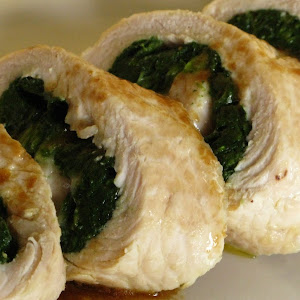 Turkey Roll-ups with Spinach and  Cheese