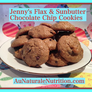 Jenny's Flax & Sunbutter Chocolate Chip Cookies