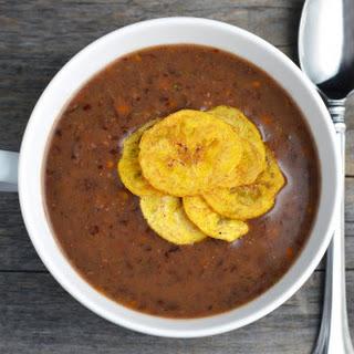 Vegetarian Cuban Black Bean Soup.