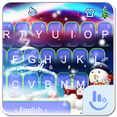 Live 3D Magic Christmas Keyboard Theme