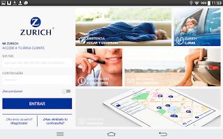 Screenshot of Zurich Seguros