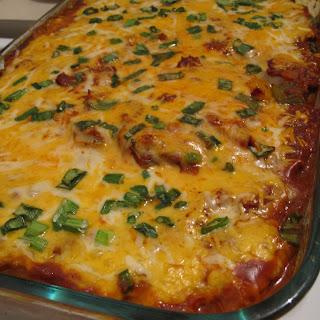 No Tortilla Chicken Enchilada Bake