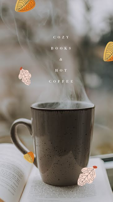Coffee and Books - Facebook Story Template