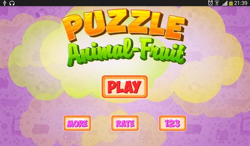 Animal Puzzle Fruit Puzzle