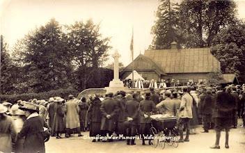 Photo: The Unveiling of Wateringburt War Memorial