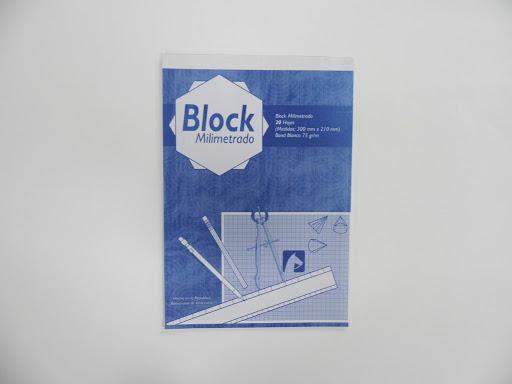 block milimetrado alpha colores varios