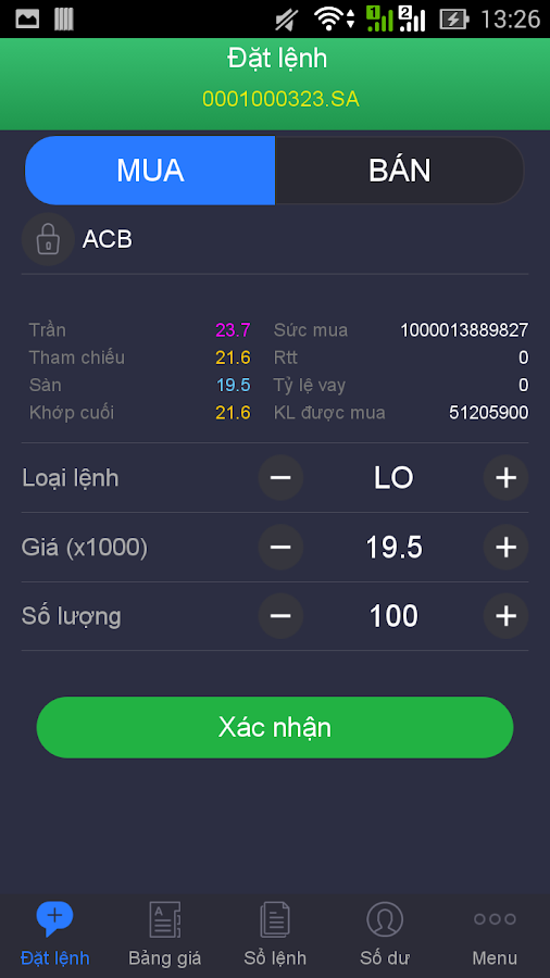 VCBS Mobile Trading- screenshot