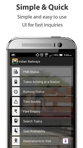 Indian Railways train enquiry Apk apps 1