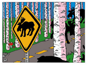 "Photo: ""Caution Moose"""