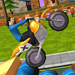 Dirt Bike - Cartoon Trial Icon