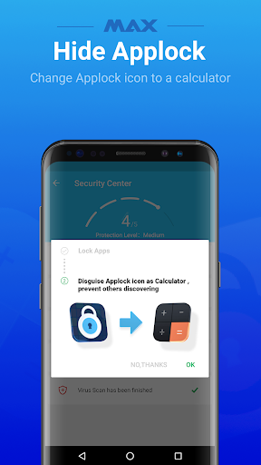 Screenshot for MAX AppLock - App Locker, Security Center in United States Play Store