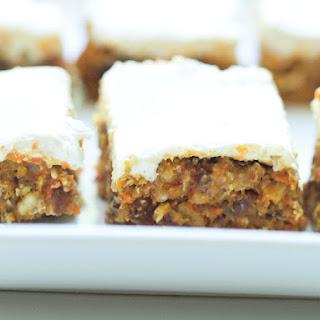 Healthy No Bake Carrot Cake Bars