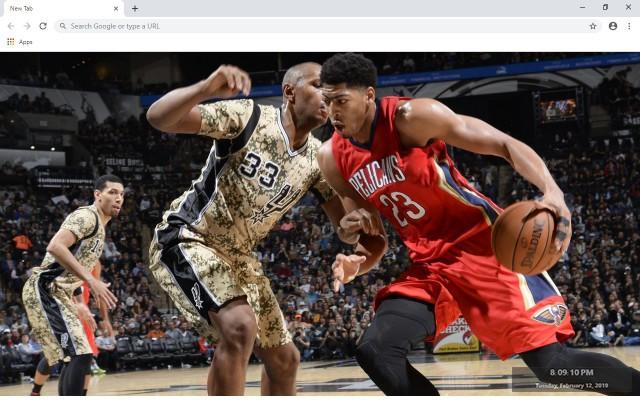 Anthony Davis  NBA New Tab Theme