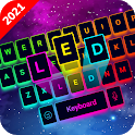 LED Keyboard - RGB Lighting Keyboard, Emojis, Font icon
