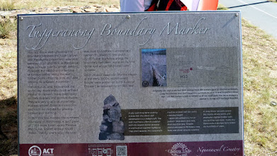 Photo: Eastern end marker for the Tuggers Boundary Wall