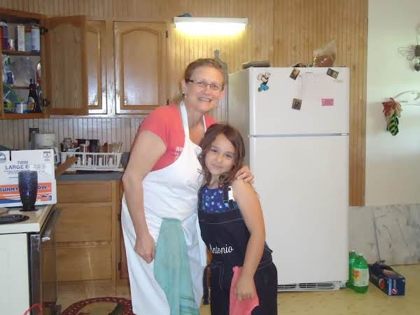 This Is Me (memommy) And Kiana While We Were Making Our Delicious Cupcakes