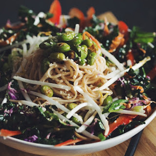 Asian Noodle Salad With Edamame & Sweet Ginger Dressing →