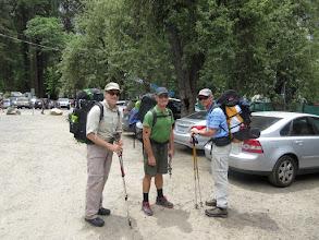 Photo: Me, Phil and Matt heading  off