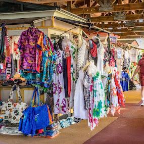 At the Market by Debbie Jones - City,  Street & Park  Markets & Shops ( market, shops, st thomas, caribbean, virgin islands )