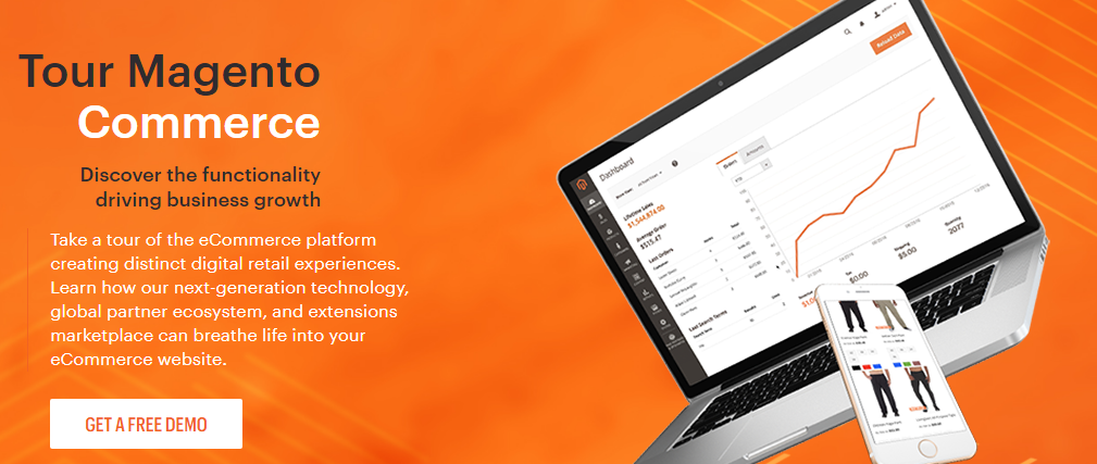 Magento Vs Shopify Vs WooCommerce: Magento website