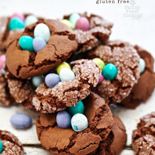 Gluten Free Chocolate Nest Easter Cookies