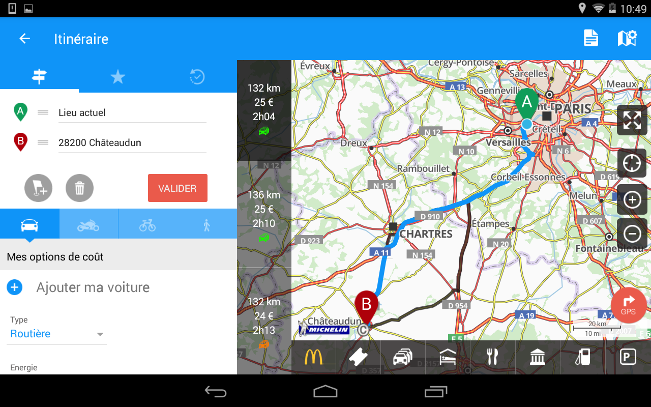 viamichelin gps trafic itin raire applications android sur google play. Black Bedroom Furniture Sets. Home Design Ideas