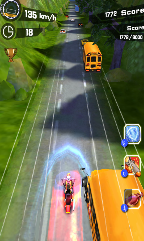 Screenshots of Violent Racing Moto for Android