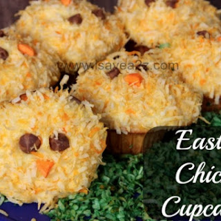 Spring Chicks Easter Cupcakes
