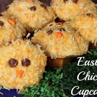 Spring Chicks Easter Cupcakes.