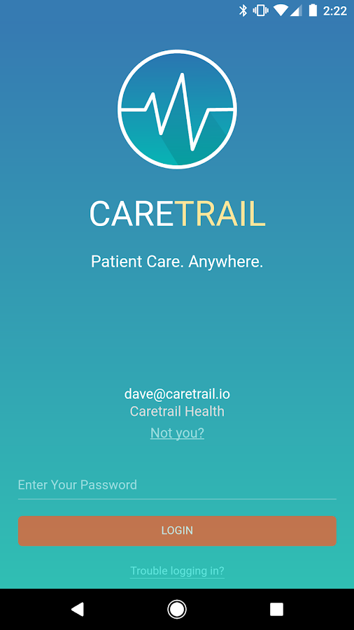 CareTrail- screenshot