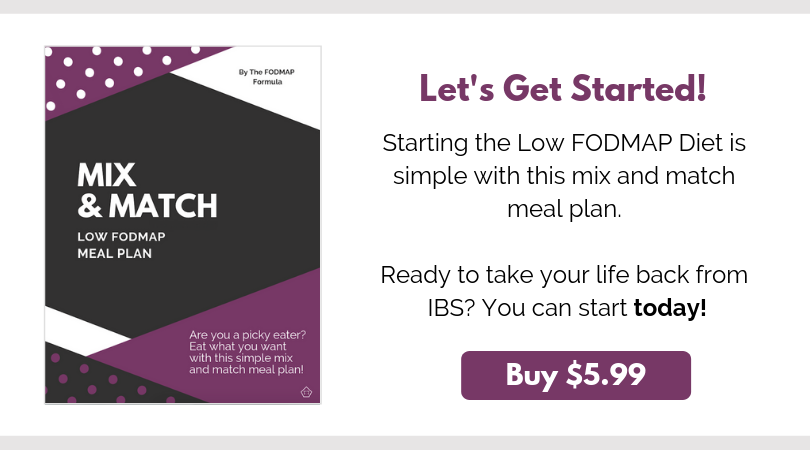 Click here to purchase your mix and match low FODMAP meal planner for $5.99 USD.