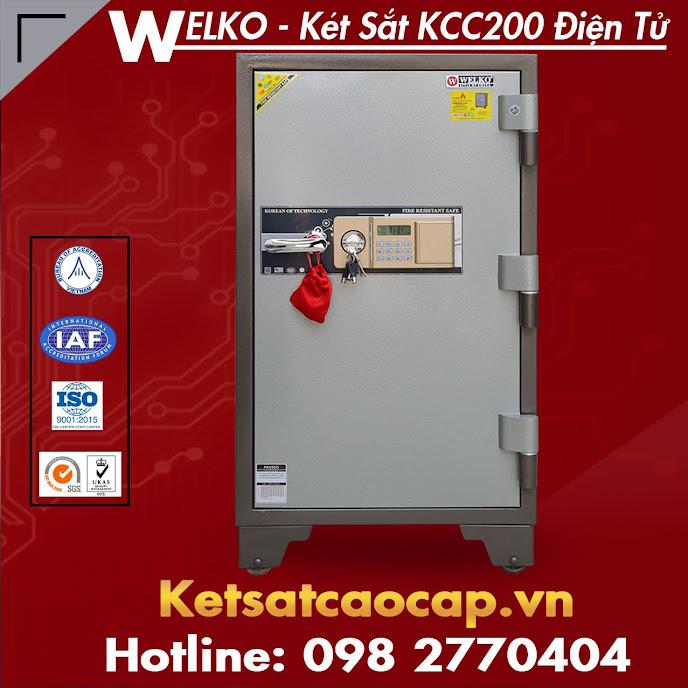 két bạc chống cháy welko safes kcc200 điện tử